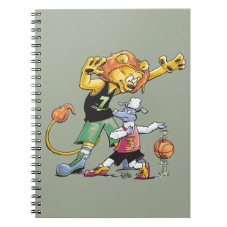 Lion and Sheep Basketball Notebook