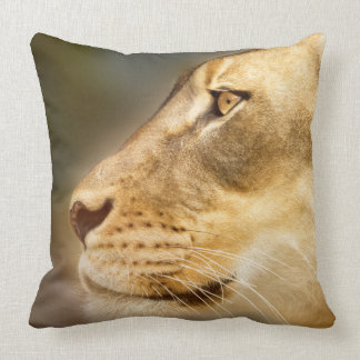 Lion and Snow Leopard 2 sided throw pillow