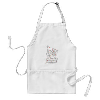 lion and standard apron
