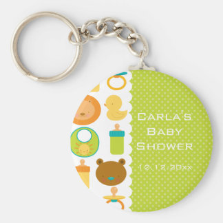 Lion and Teddy Bear Baby Shower Keychain