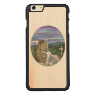 Lion and the Lamb products Carved Maple iPhone 6 Plus Case