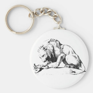 Lion And The Serpent Basic Round Button Key Ring