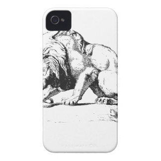 Lion And The Serpent iPhone 4 Case-Mate Cases