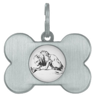 Lion And The Serpent Pet Name Tag
