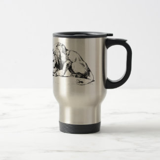 Lion And The Serpent Travel Mug