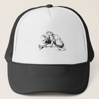 Lion And The Serpent Trucker Hat