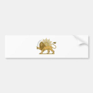 Lion and the sun bumper sticker