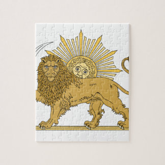 Lion and the sun jigsaw puzzle