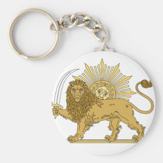 Lion and the sun key ring