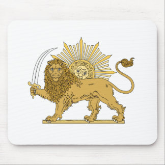 Lion and the sun mouse pad
