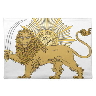 Lion and the sun placemat