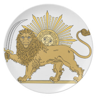 Lion and the sun plate