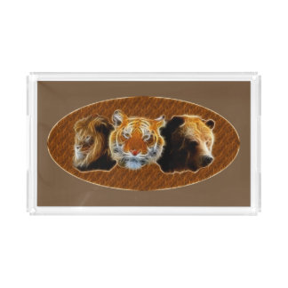 Lion And Tiger And Bear Acrylic Tray