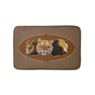 Lion And Tiger And Bear Bath Mat