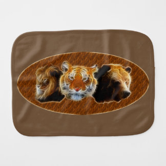 Lion And Tiger And Bear Burp Cloth