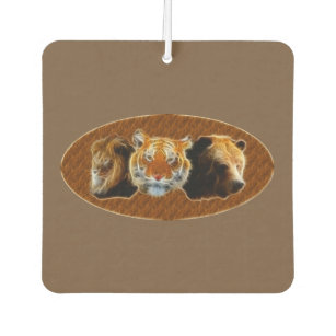 Lion And Tiger And Bear Car Air Freshener