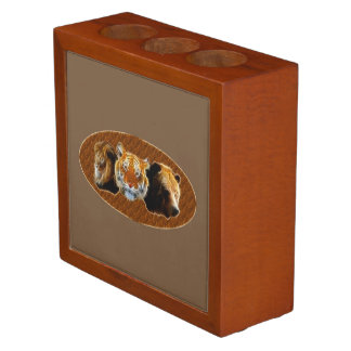 Lion And Tiger And Bear Desk Organiser