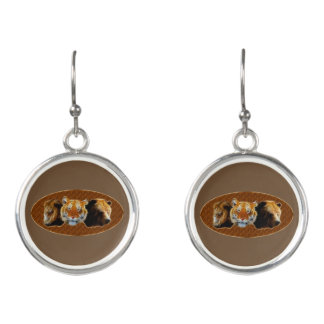 Lion And Tiger And Bear Earrings
