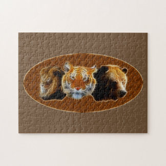 Lion And Tiger And Bear Jigsaw Puzzle