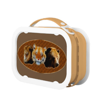 Lion And Tiger And Bear Lunch Box