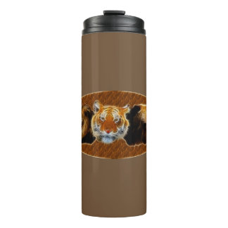 Lion And Tiger And Bear Thermal Tumbler