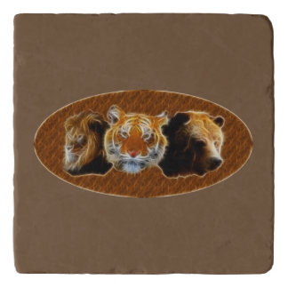 Lion And Tiger And Bear Trivet