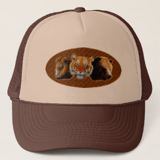 Lion And Tiger And Bear Trucker Hat