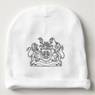 Lion and Unicorn Shield Heraldic Coat of Arms Baby Beanie