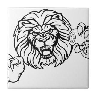 Lion Angry Esports Mascot Ceramic Tile