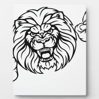 Lion Animal Sports Mascot Plaque