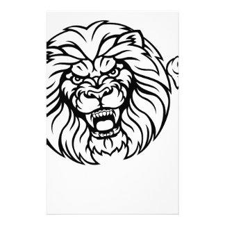 Lion Animal Sports Mascot Stationery