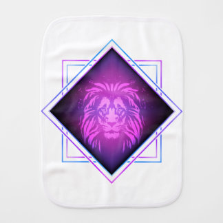 Lion art burp cloth