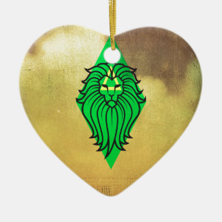 Lion Art Design Ceramic Heart Decoration