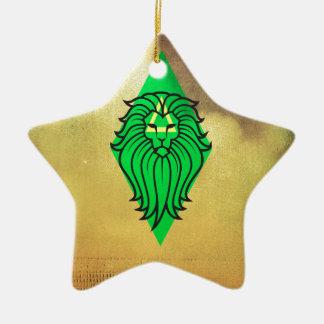 Lion Art Design Ceramic Star Decoration