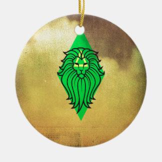 Lion Art Design Round Ceramic Decoration
