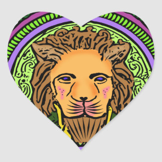 Lion Art exclusive Heart Sticker