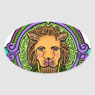 Lion Art exclusive Oval Sticker
