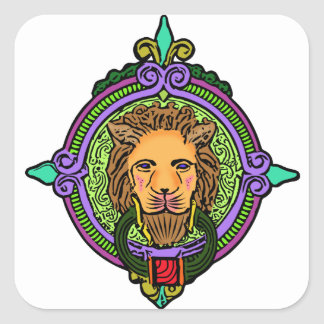 Lion Art exclusive Square Sticker