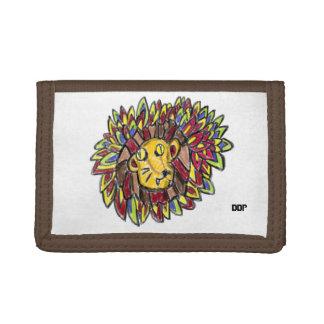 lion art one tri-fold wallets