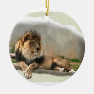 Lion At Rest Christmas Ornament