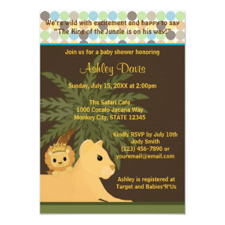 LION Baby Shower Invitation King of the Jungle KOT