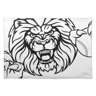 Lion Baseball Ball Sports Mascot Placemat