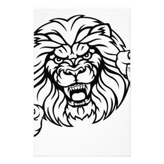 Lion Baseball Ball Sports Mascot Stationery