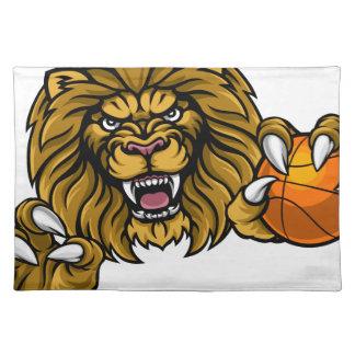 Lion Basketball Ball Sports Mascot Placemat