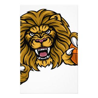 Lion Basketball Ball Sports Mascot Stationery