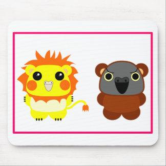 Lion Belle cockatiel and Lulu Bear Senegal Parrot Mouse Pad