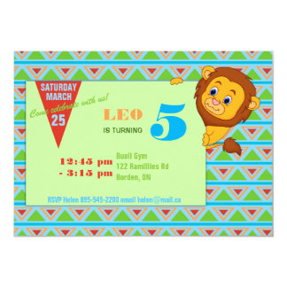 Lion Birthday Invitation