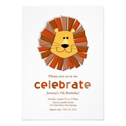 Lion Birthday Invitations