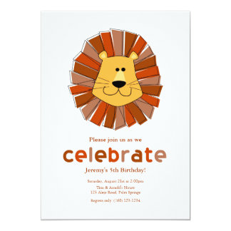 Lion Birthday Invitations