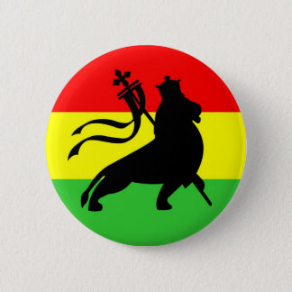 lion (black on RYG) 6 Cm Round Badge